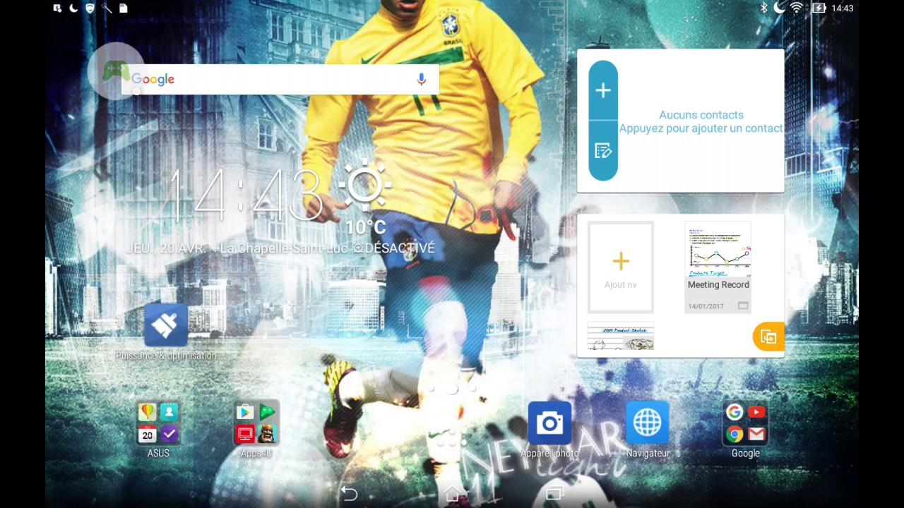 Tuto# Comment Se Filmer Soit Même Pendant Qu'on Joue À Un serapportantà Jeux Foot Tablette