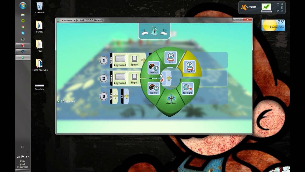 [Tuto/logiciel] -Facile- Créer Un Jeu Pc En 10 Minutes Chrono Grâce A Kodu  Game Lab !! (Par Gaws) avec Logiciel Jeux Pc