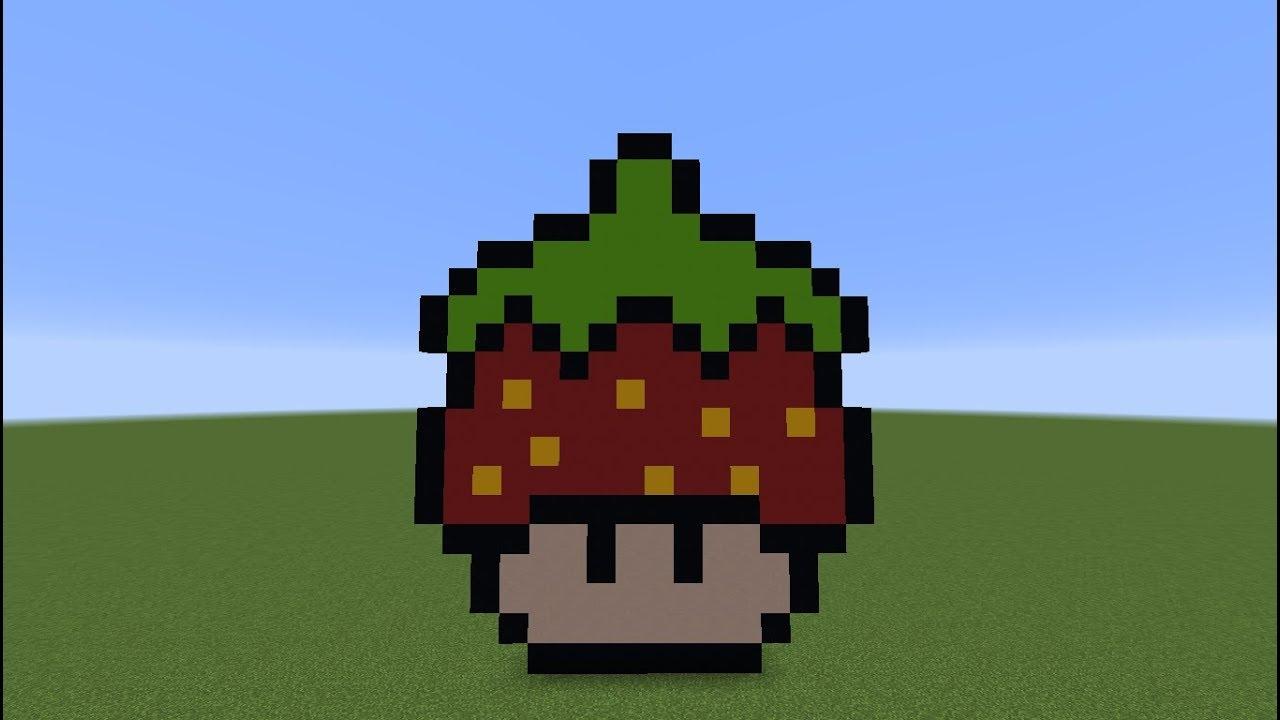 Tuto Minecraft] Pixel Art : Champignon Fraise - pour Pixel Art Fraise