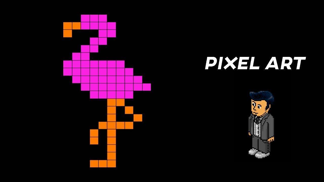 Tuto Pixel Art - Flamant Rose destiné Pixel Art Flamant Rose