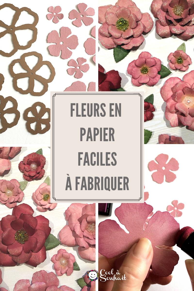 Tutoriel Pour Faire Des Fleurs En Papier Cartonné | Fleurs dedans Fleurs À Découper