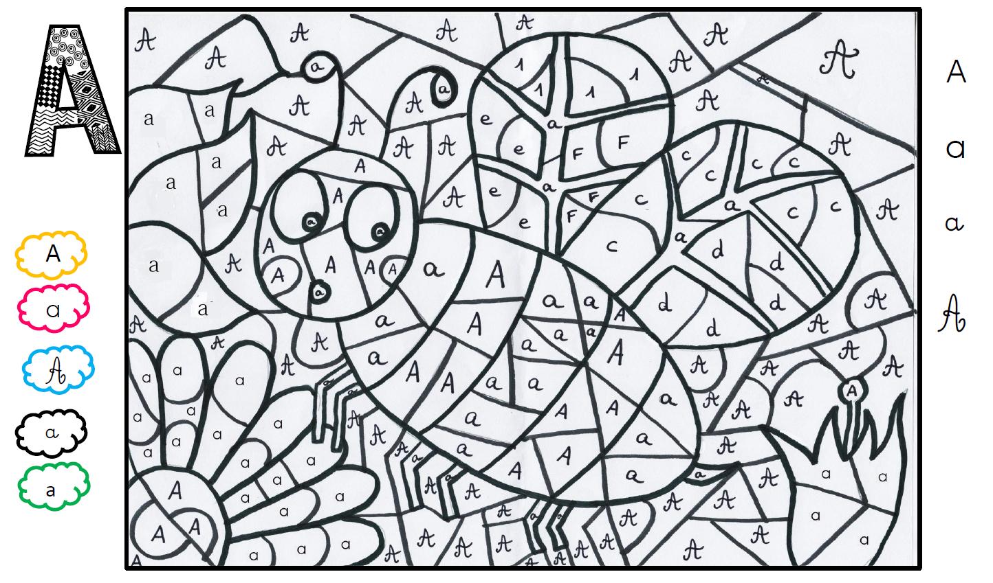Un Abécédaire En Coloriage Magique (Partie 1) - La Maîtresse avec Coloriage Numéroté Maternelle