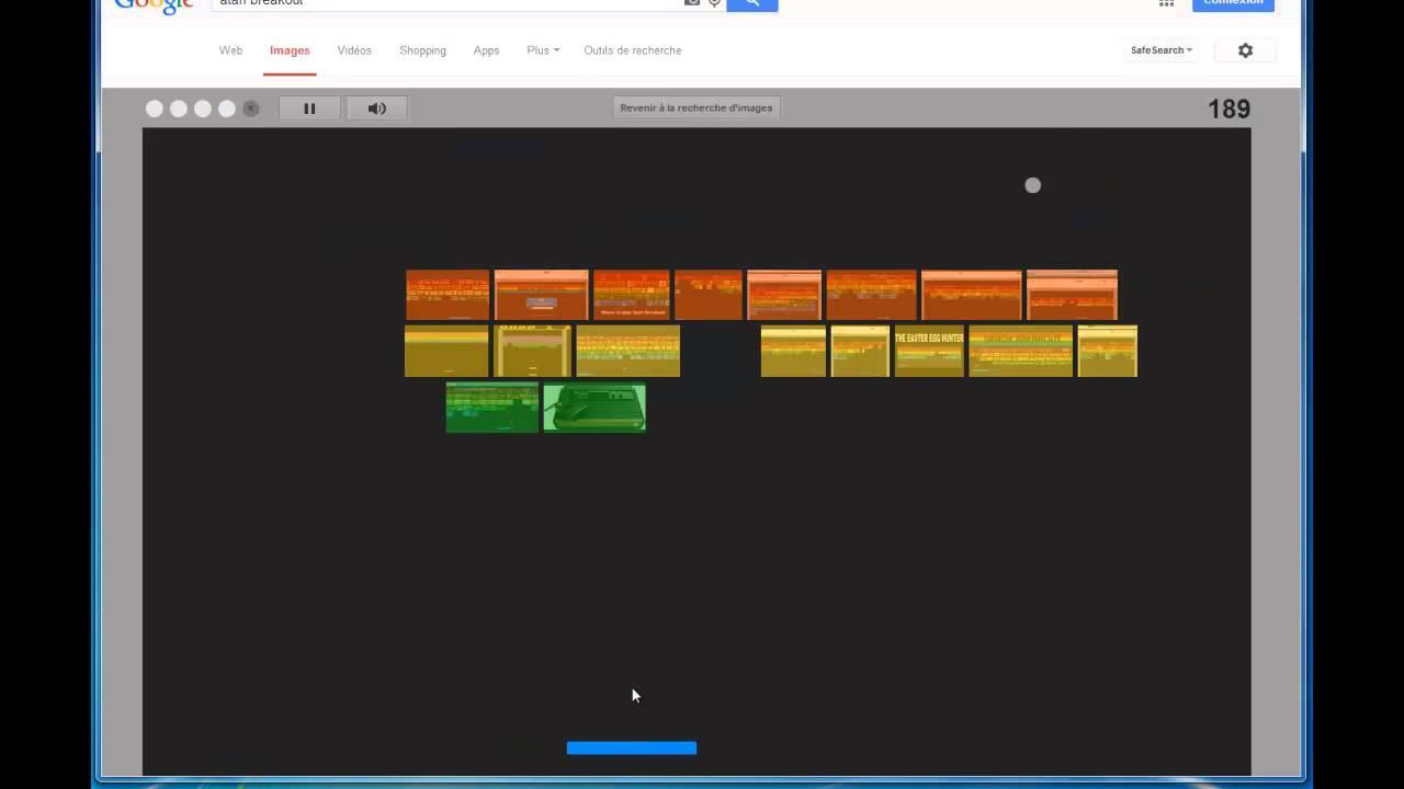 Un Casse-Briques Caché Dans Google Images - Tutozine dedans Jouer Au Casse Brique