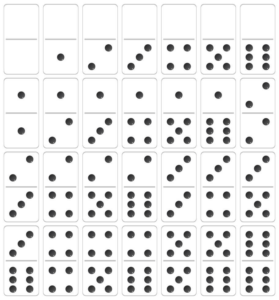 Un Ensemble De Domino - Telecharger Vectoriel Gratuit serapportantà Jeux Domino Gratuit En Ligne