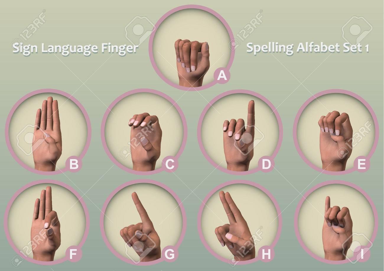 Un Ensemble De Symbole Icônes Fingerspelling - Alphabets Manuels (Également  Connu Sous Le Nom Alphabets Des Doigts Ou Des Alphabets De La Main) Est La avec Le Nom Des Doigts De La Main