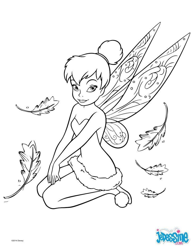 Un Joli Coloriage De Peter Pan Avec La Fée Clochette. Un avec Jeux De Fee Gratuit