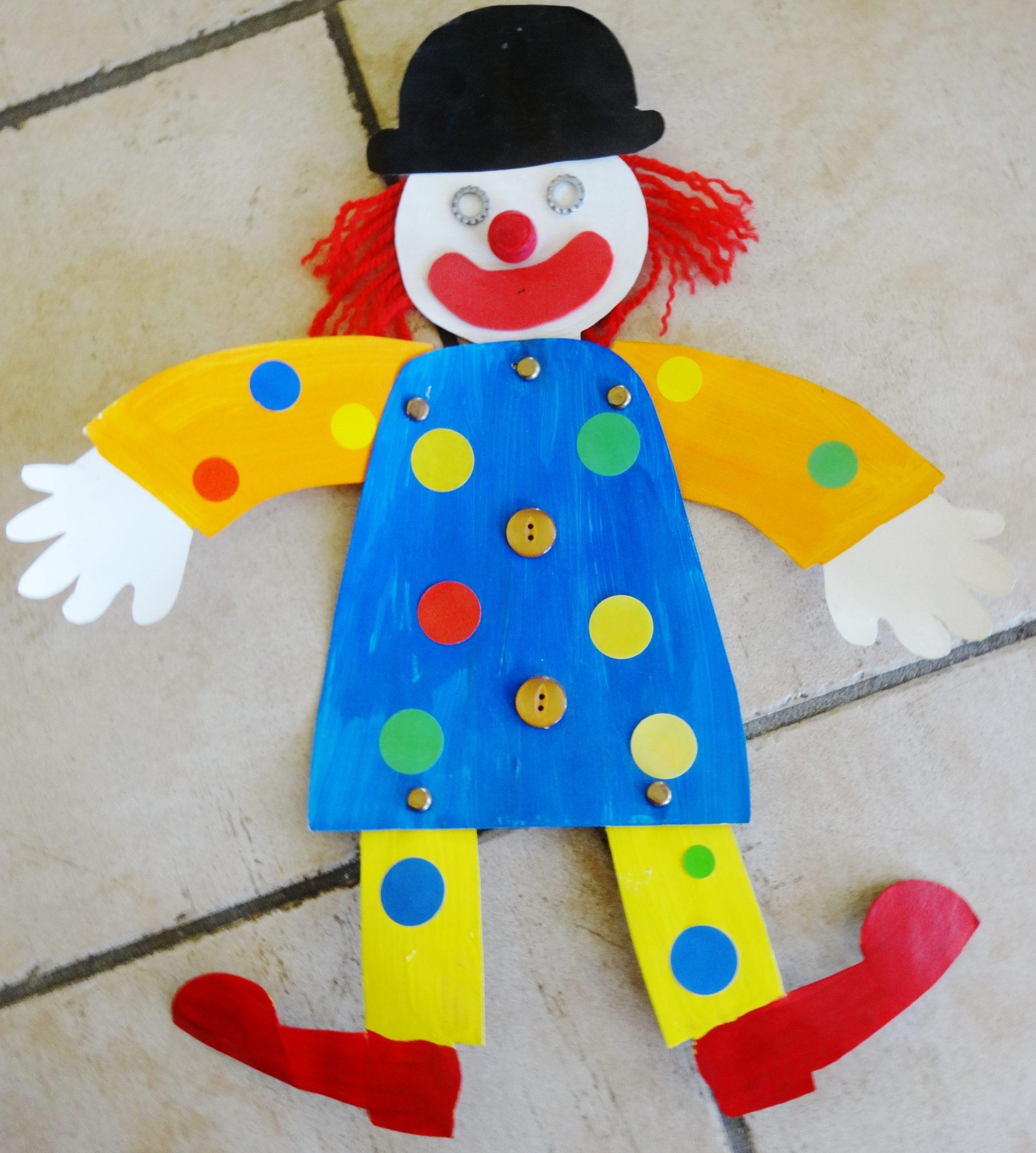 Un Petit Clown Pantin | Activités À La Maison avec Fabrication D Un Pantin Articulé
