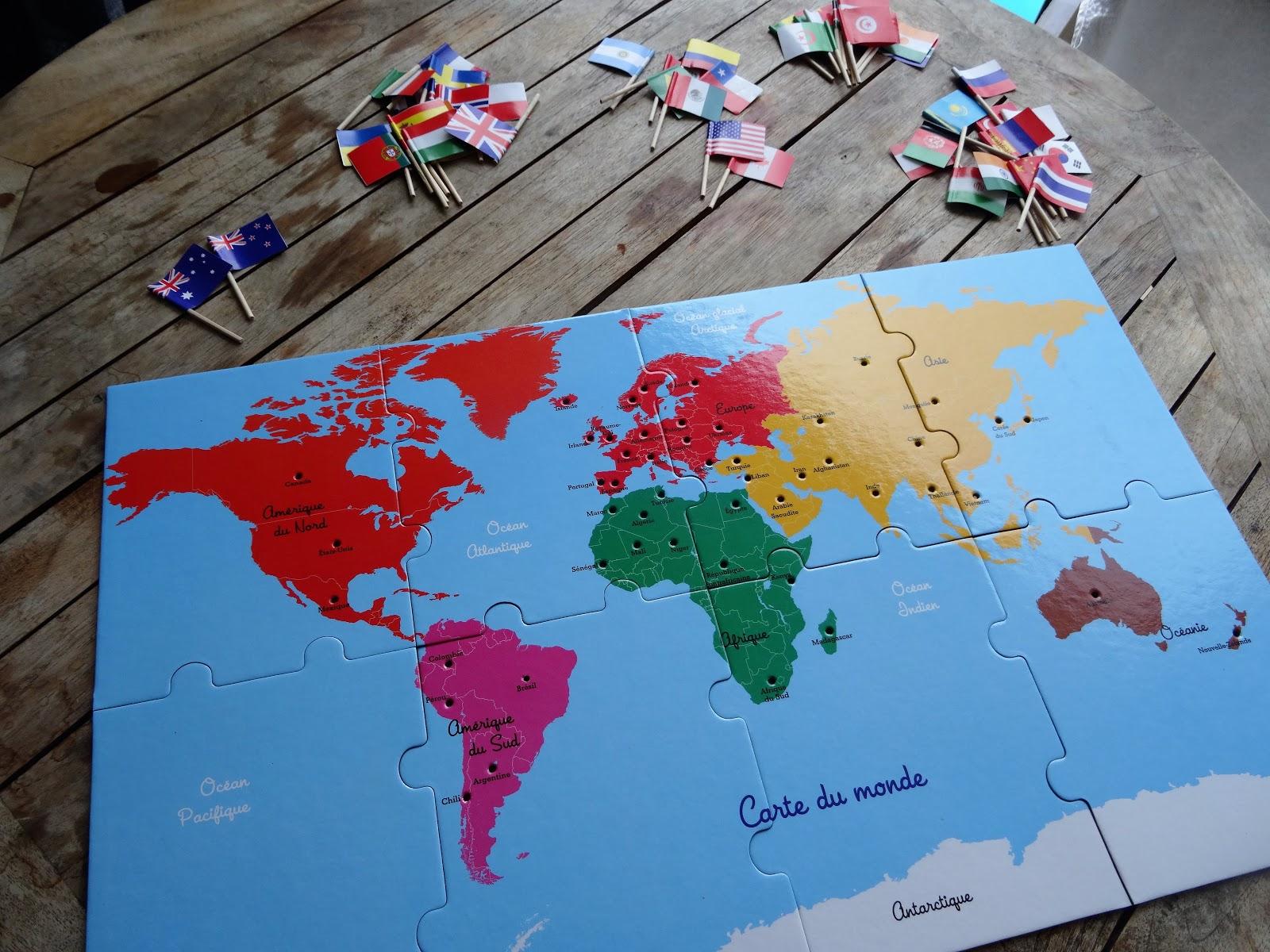 Un Planisphère Et 50 Drapeaux !! Et Voilà Des Enfants destiné Planisphère Enfant