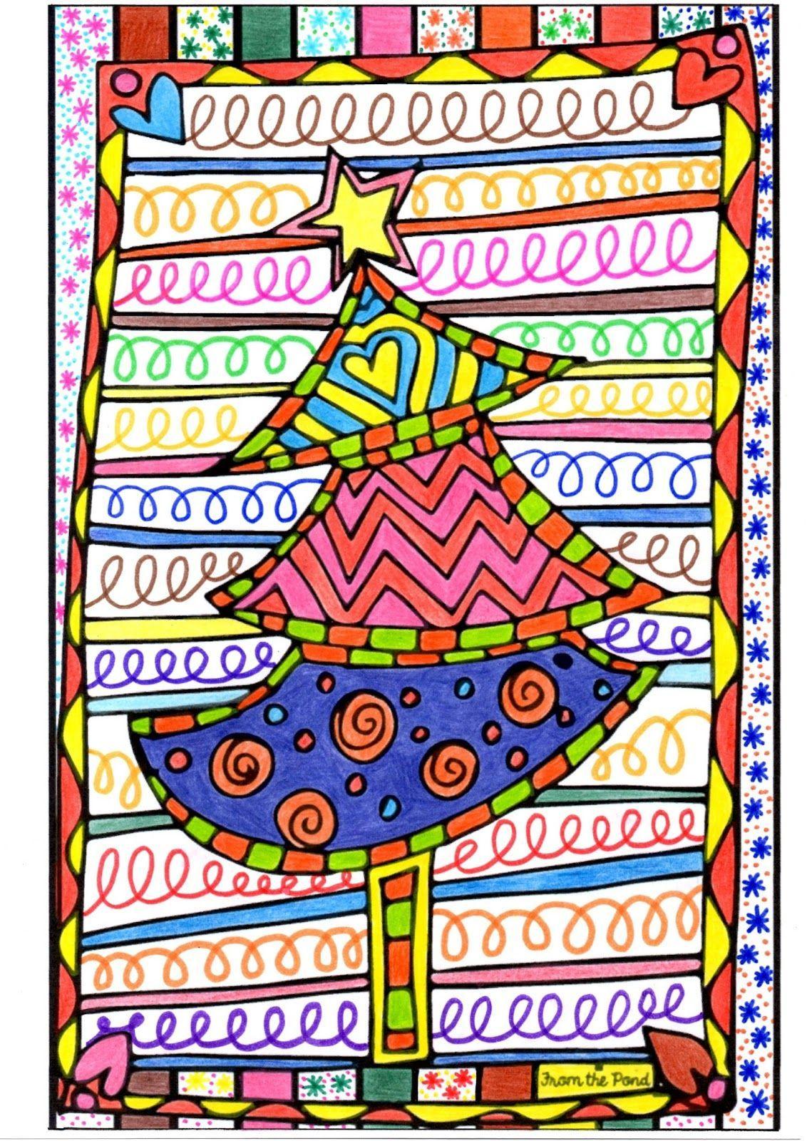 Un Sapin De Noël En Graphisme Décoratif Et En Coloriage Pour destiné Graphisme Décoratif Grande Section
