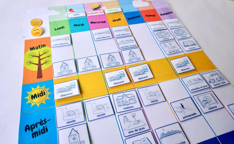 Un Semainier À Imprimer Gratuitement : Aide Ton Enfant À Se pour Etiquette Scolaire Personnalisé Gratuit