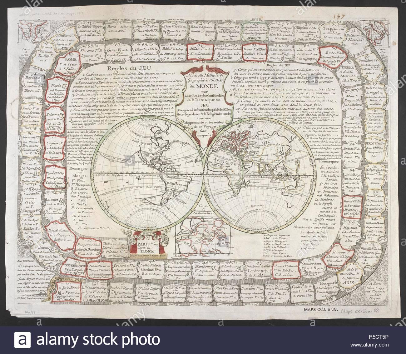 Une Carte Du Monde En Deux Hémisphères. . Nouvelle Methode tout Jeux De Carte Geographique Du Monde