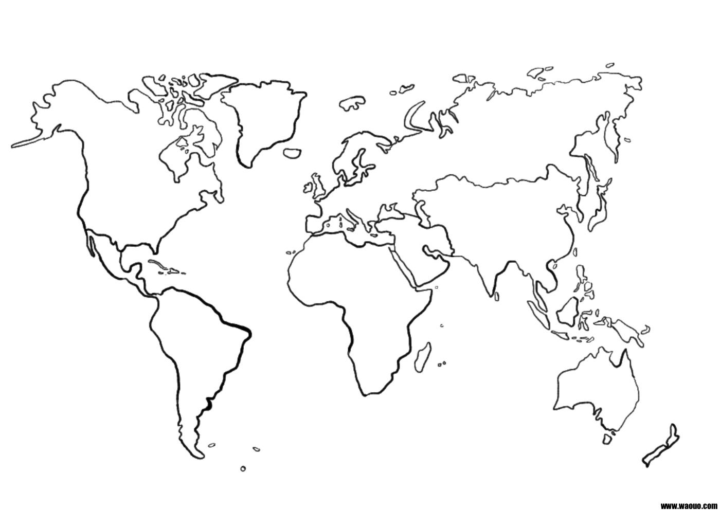Une Carte Du Monde (Mappemonde) Vierge Pour La Géographie À pour Carte Vierge À Imprimer