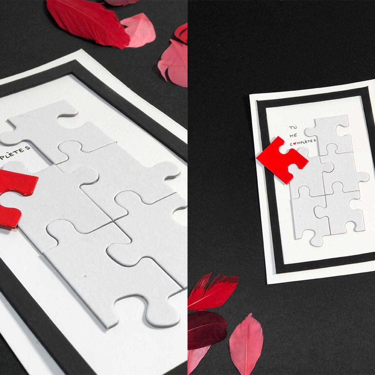 Une Carte Puzzle Facile Et Pas Chère Pour La Saint-Valentin avec Puzzle Facile Gratuit