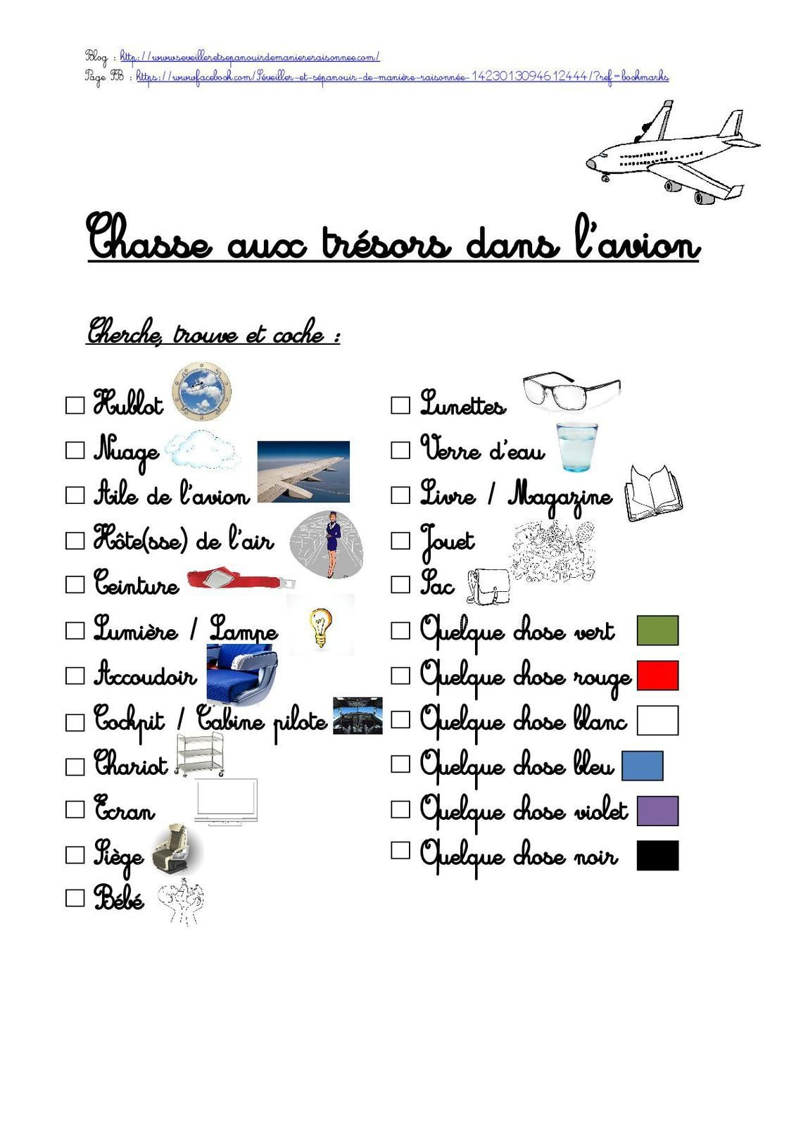 Une Chasse Aux Trésors Dans L'avion (Avec Images) | Chasse concernant Jeux A Faire Dans La Voiture