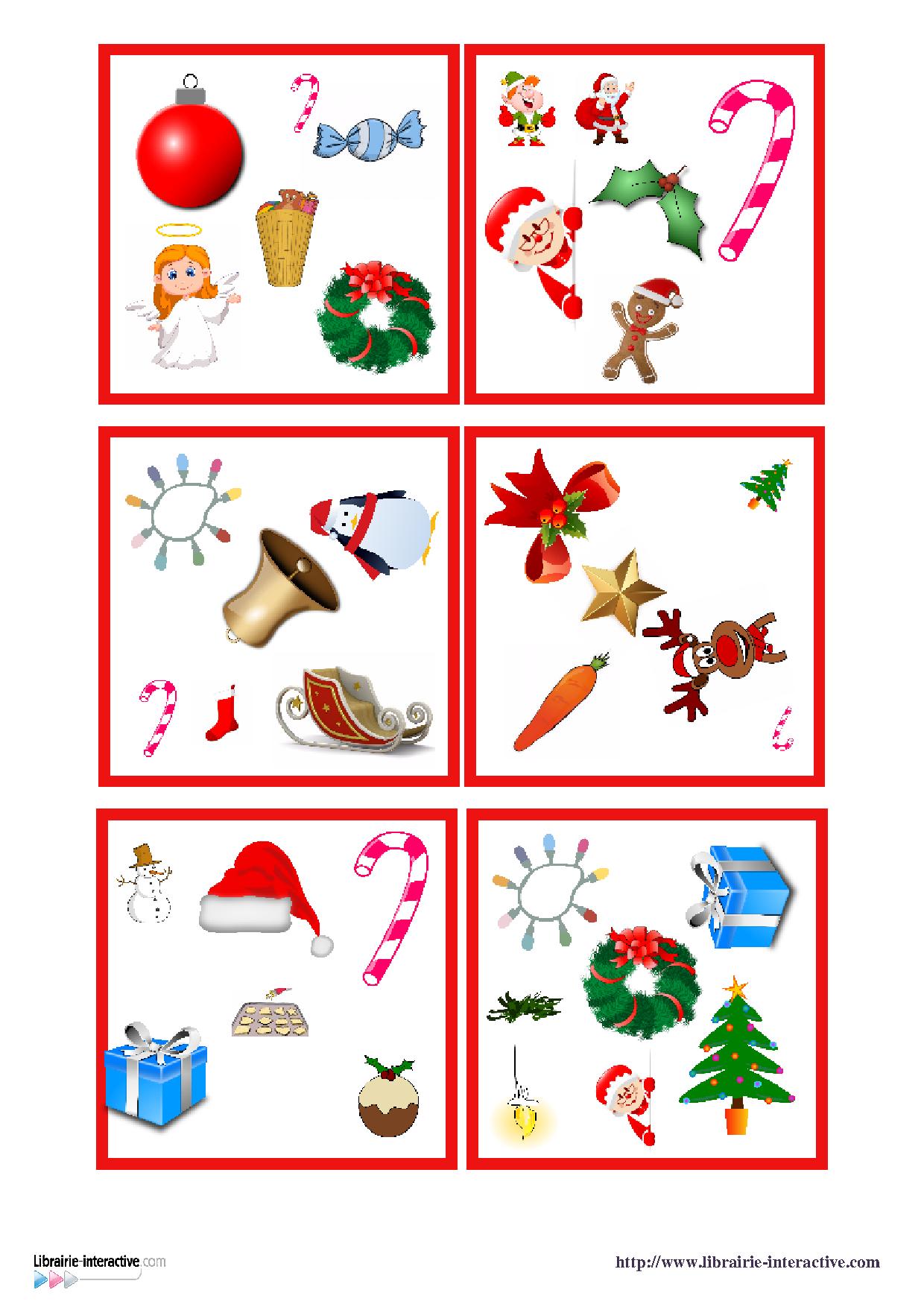 Une Version Du Célèbre Jeu De Dobble Sur Le Thème De Noël dedans Jeu Noel Maternelle