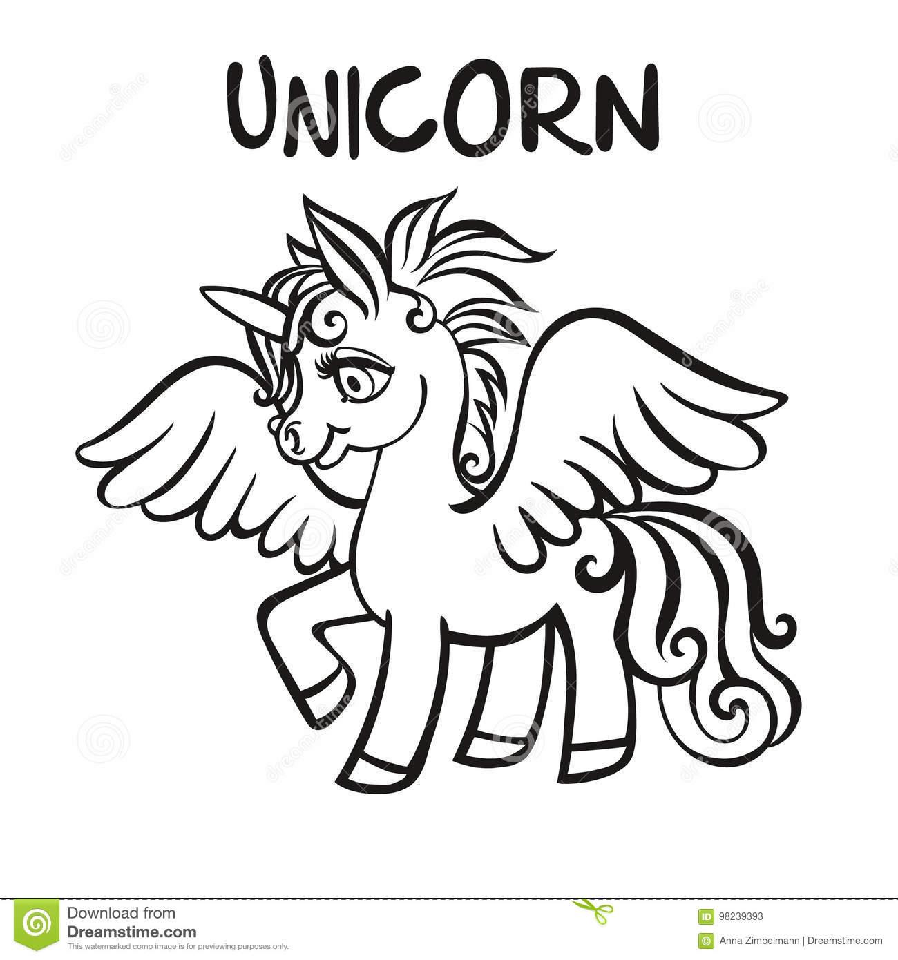 Unicorn Dessin-Modèle De Vecteur Pages De Livre De Coloriage encequiconcerne Modele Dessin Enfant
