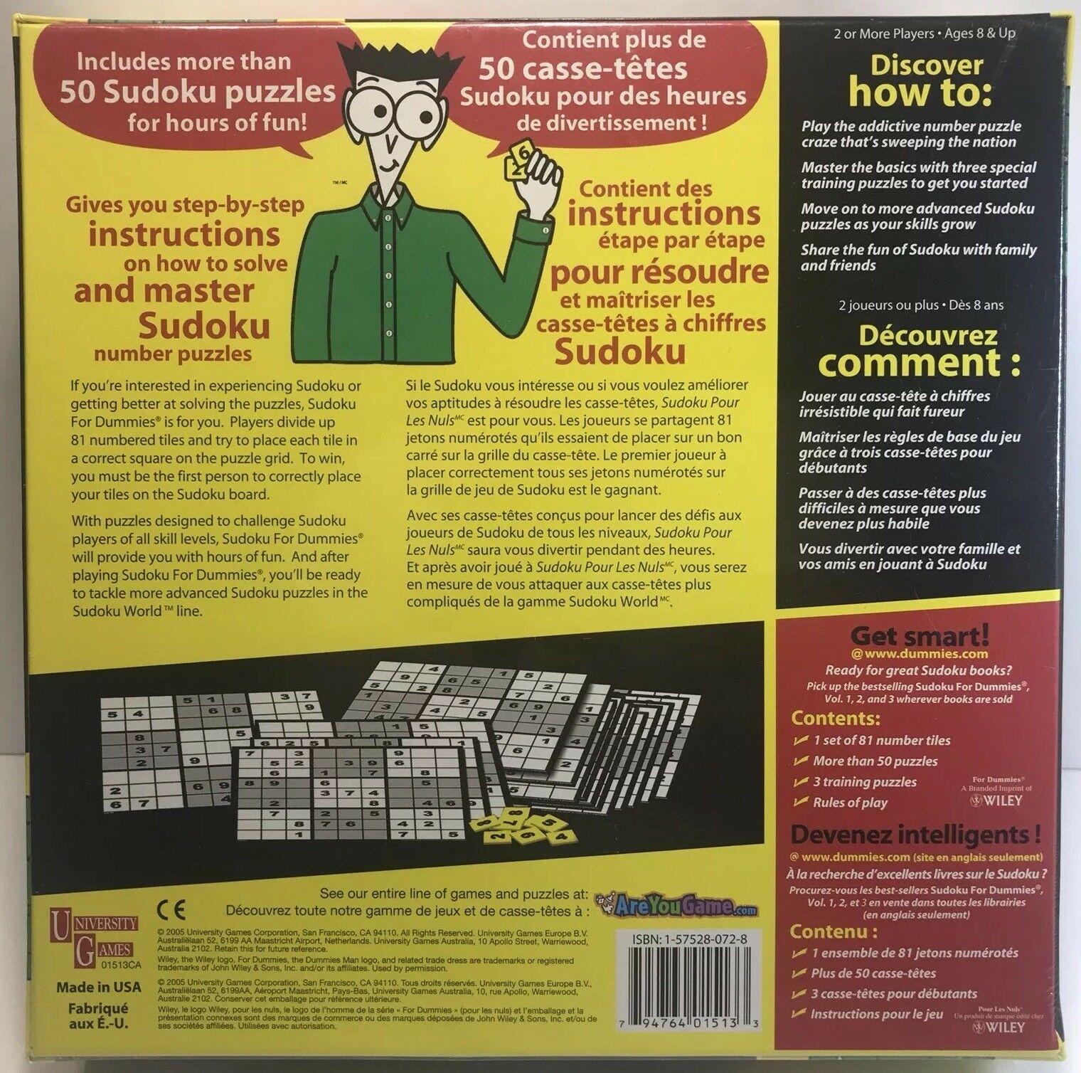 University Games Sudoku For Dummies - The Game encequiconcerne Comment Jouer Sudoku