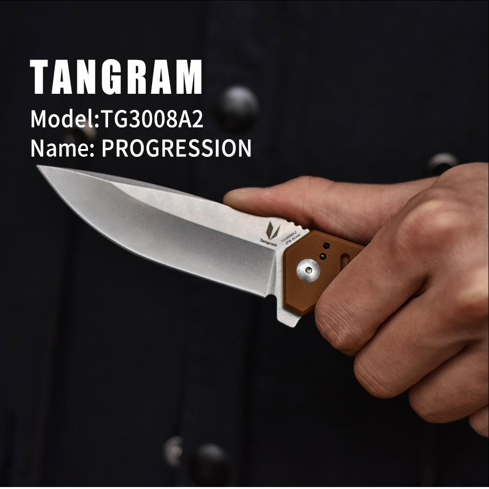 Us $27.99 30% Off|Tangram Folding Knife Tg3008A2 Bushcraft Knife Outdoor  Brand New High Quality Tool Pocket Knife 440C Blade|Knives| | - Aliexpress destiné Progression Tangram