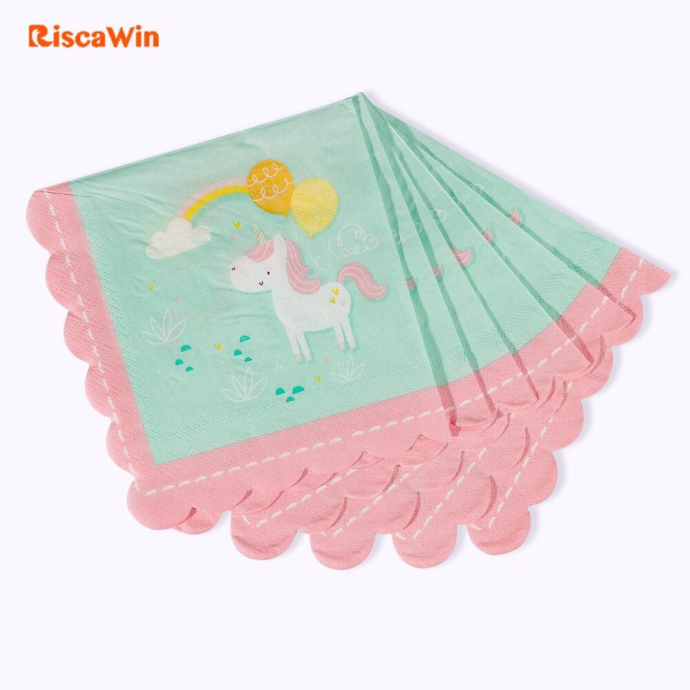 Us $5.99 |20 Pcs/pack Little Unicorn Napkin Paper 100% Virgin Wood Tissue  For Festival&birthday Party Decoration Decoupage 16.5Cm*16.5Cm-In  Disposable à Découpage Cp