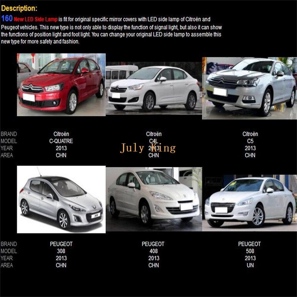 Us $99.99 |Otomobiller Ve Motosikletler'ten Sinyal Lambası'de Temmuz Krallı  Dikiz Aynası Işıkları Durumda Peugeot 308 408 508 Citroen C Quatre C4L C5, serapportantà Quatres Image Un Mot