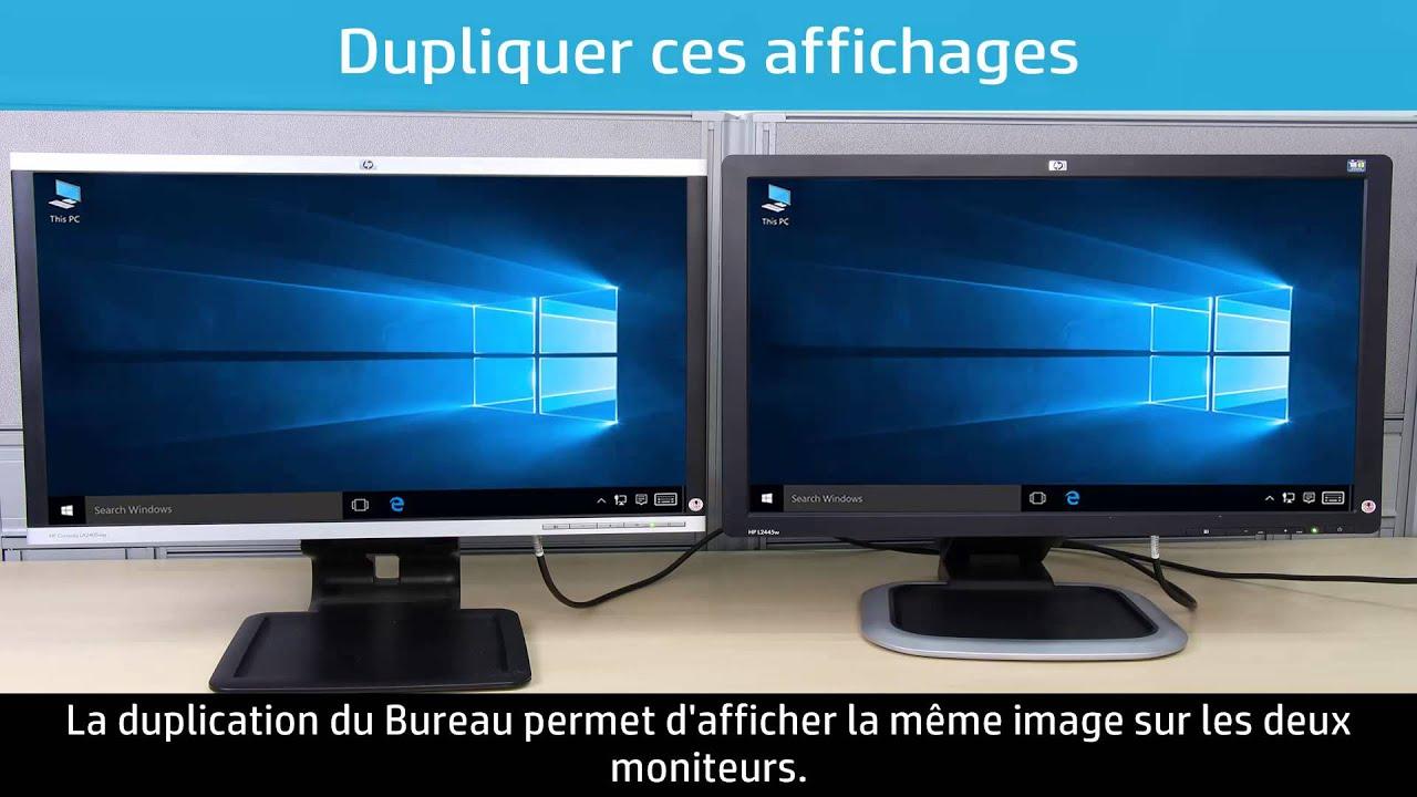 Utilisation De Deux Moniteurs Ou Plus Avec Un Ordinateur Sous Windows 10 serapportantà Relier Deux Pc