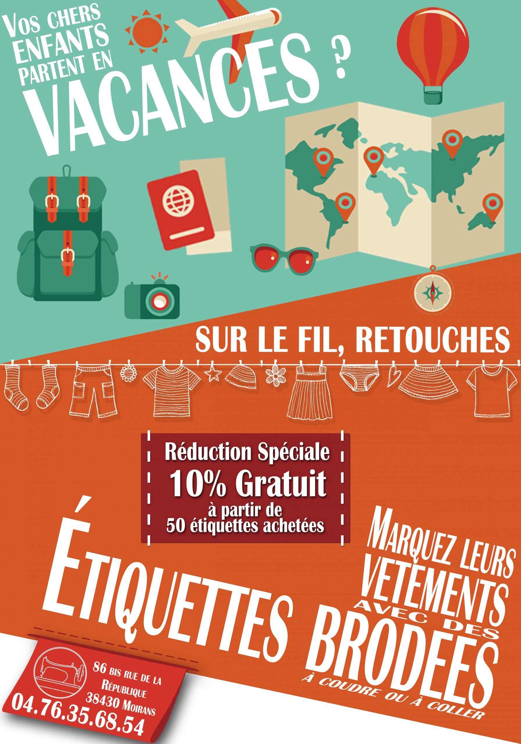 Vacances De Printemps ! – Sur Le Fil, Retouches (Moirans) tout Etiquette Scolaire Personnalisé Gratuit
