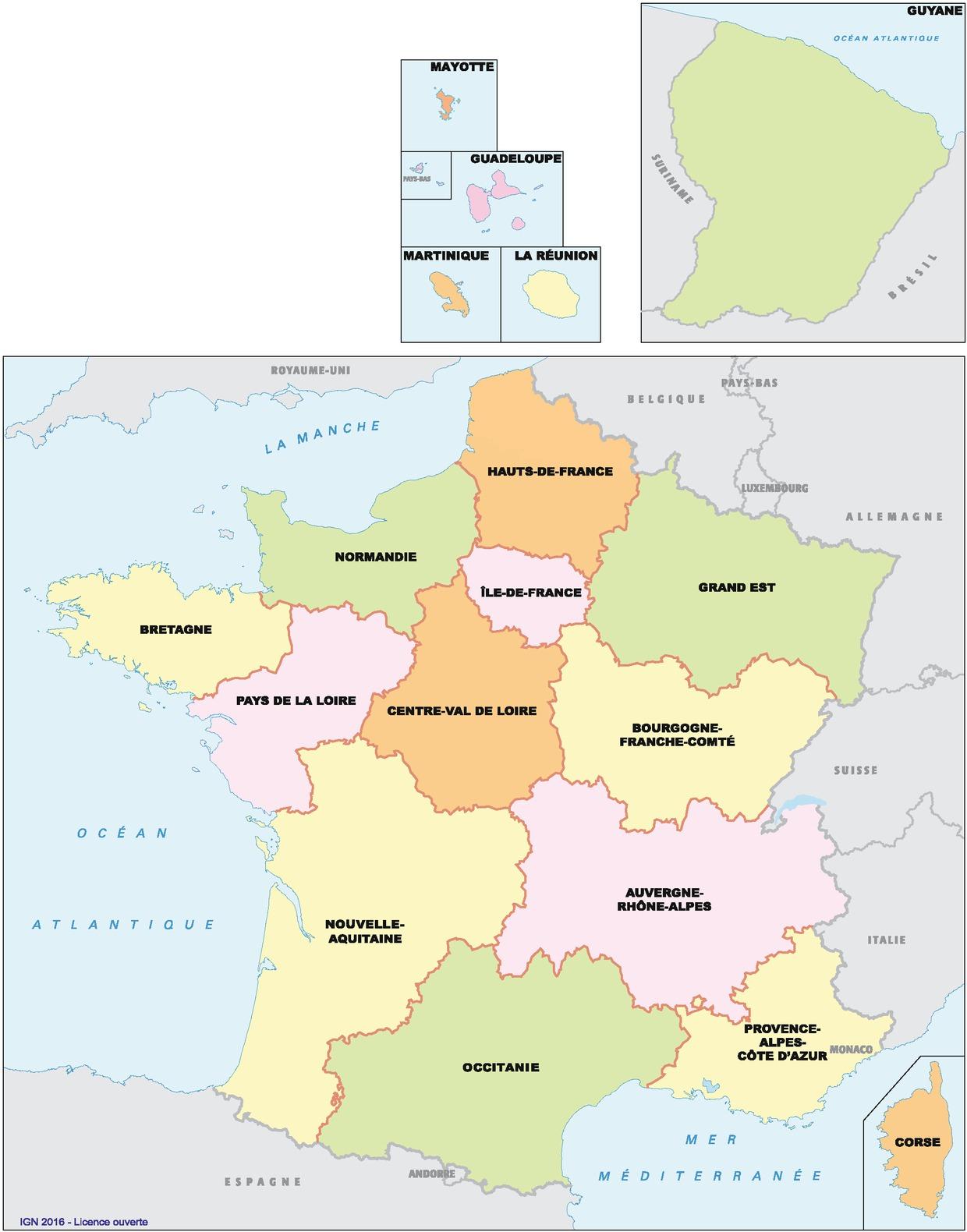 Vae Victis! Spatial Planning In The Rescaled Metropolitan dedans Les 22 Régions De France Métropolitaine