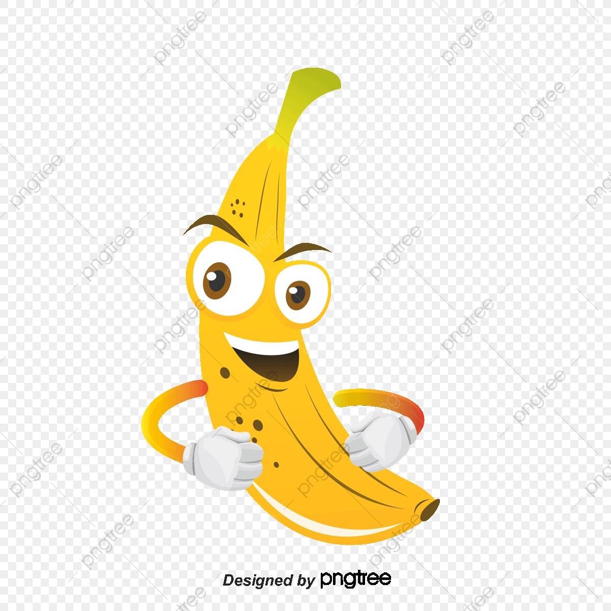 Vecteur De Banane De Dessin Animé, Banane, Main, Oeil Png Et avec Dessiner Une Banane