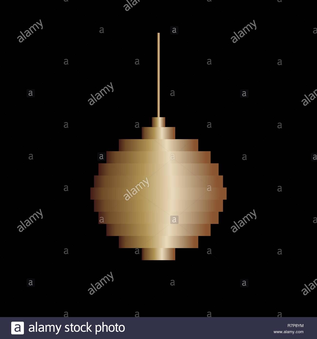 Vector Golden Pixel Art Christmas Tree Ball Jouet. Design pour Pixel Jouet