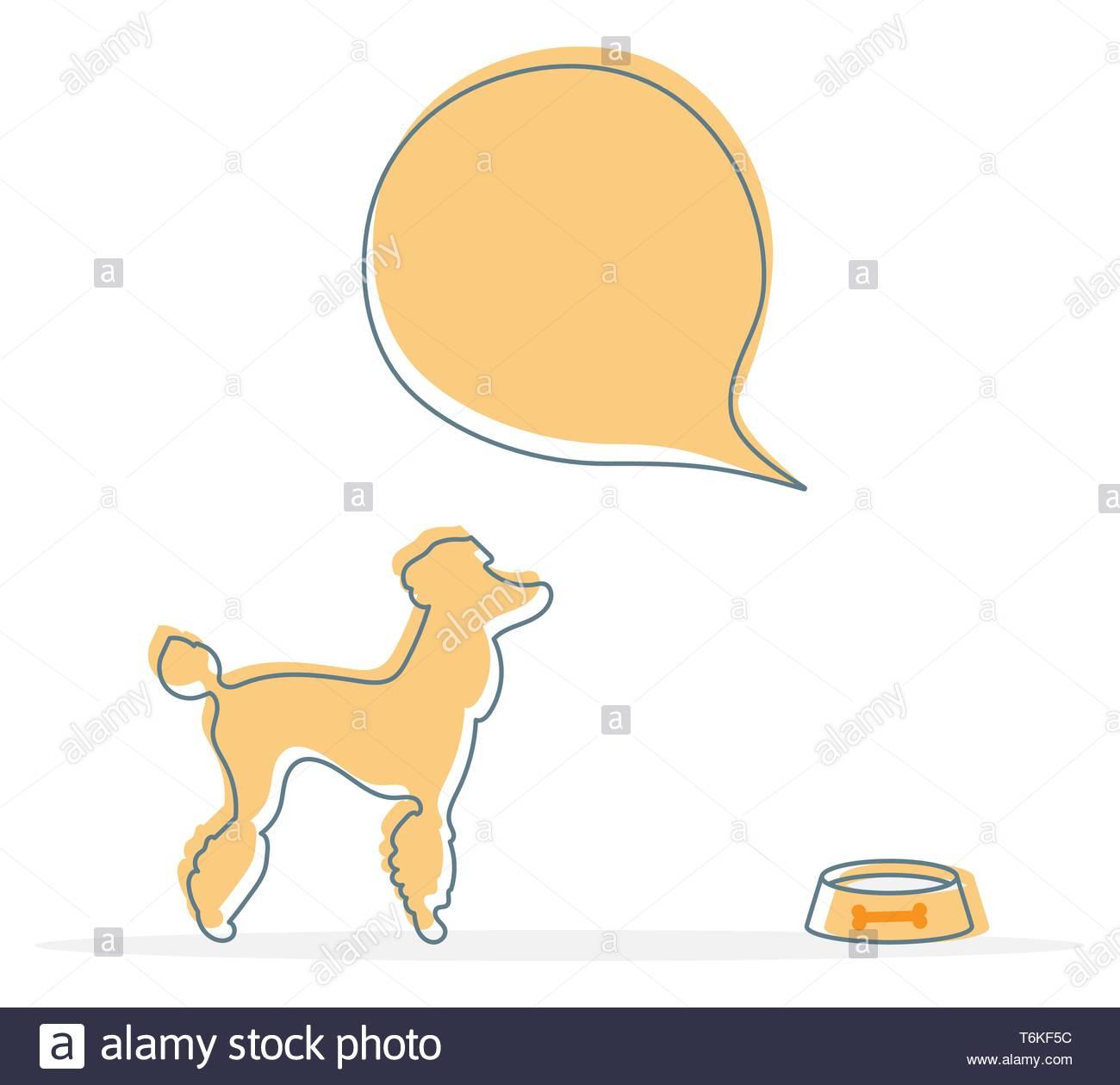 Vector Illustration Avec Silhouette De Chien, Bol. Soins De intérieur Silhouette D Animaux À Imprimer