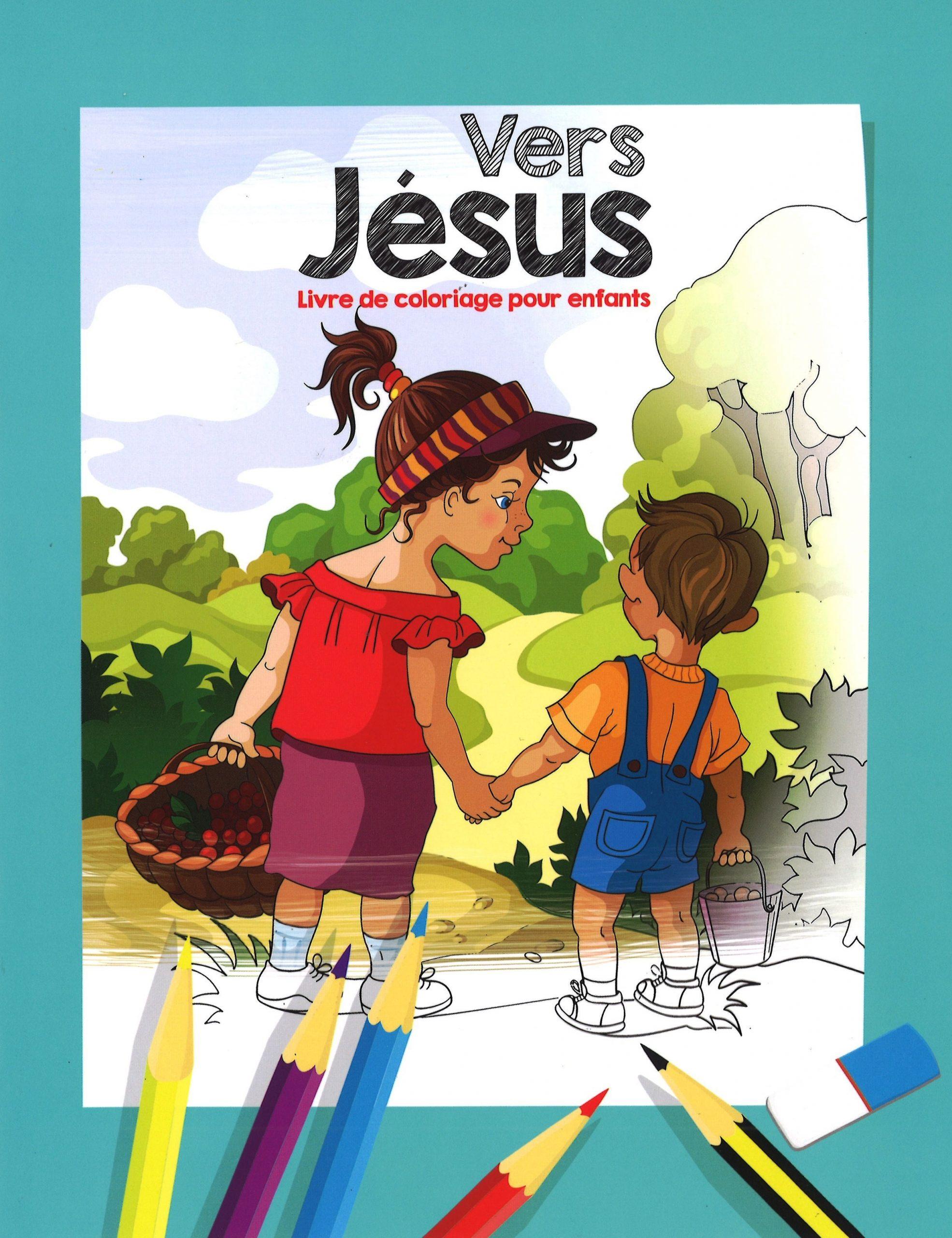 Vers Jésus - Livre De Coloriage Pour Enfants tout Cahier De Coloriage Enfant