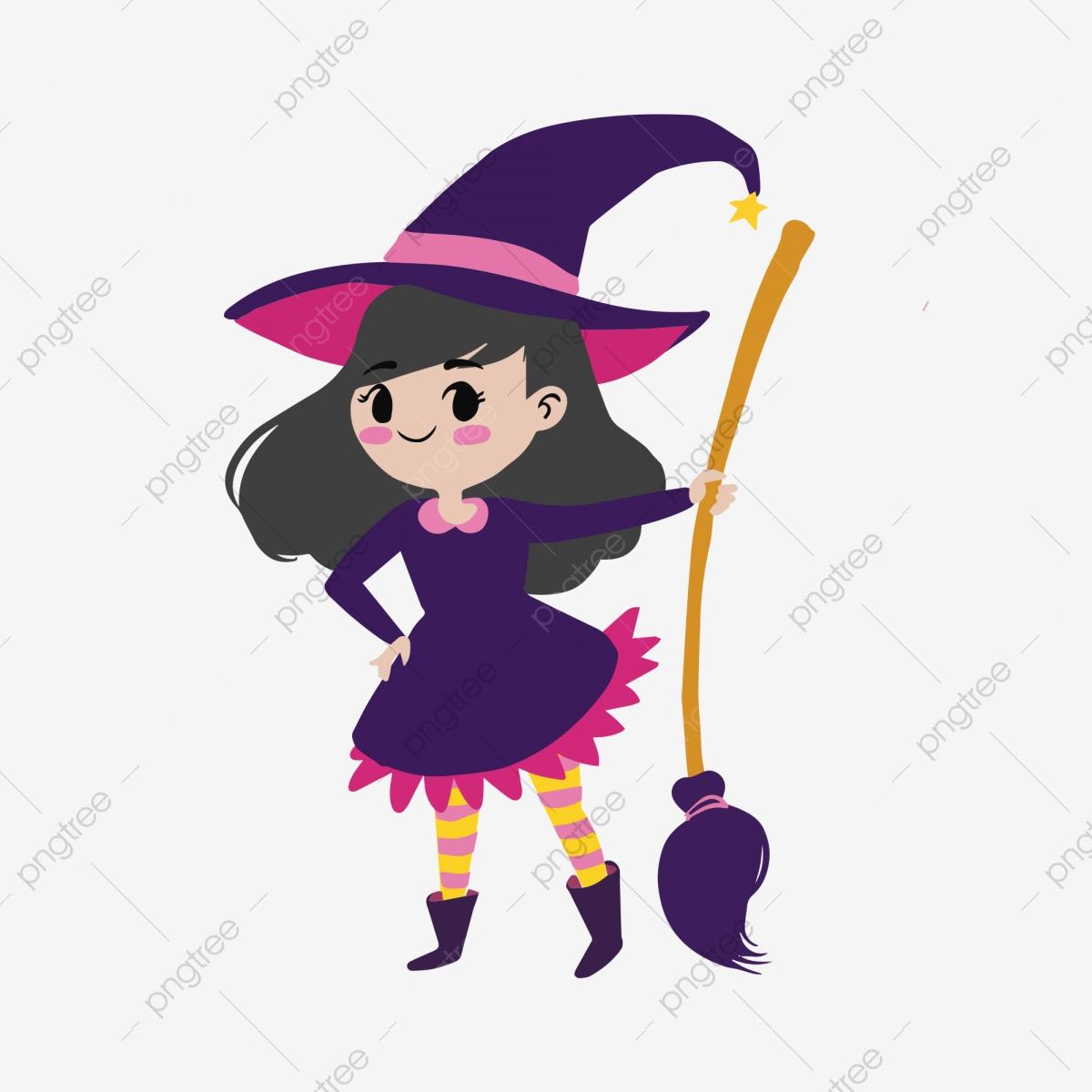 Version Q Mignon Halloween Sorcière, Illustration, La tout Image De Sorcière Gratuite
