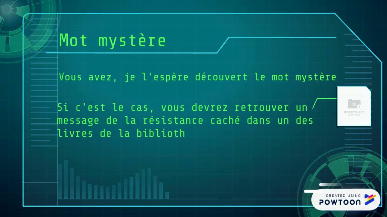 Vidéo Mission Mot Mystère Escape Game V 4Ème dedans Mot Mystere
