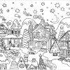 Village De Noël - Noël - Coloriages Difficiles Pour Adultes intérieur Coloriage Village De Noel