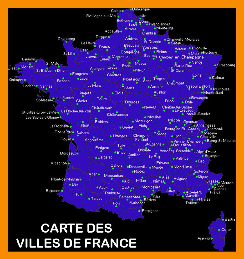 Villes De France - Carte - Arts Et Voyages à Placer Des Villes Sur Une Carte
