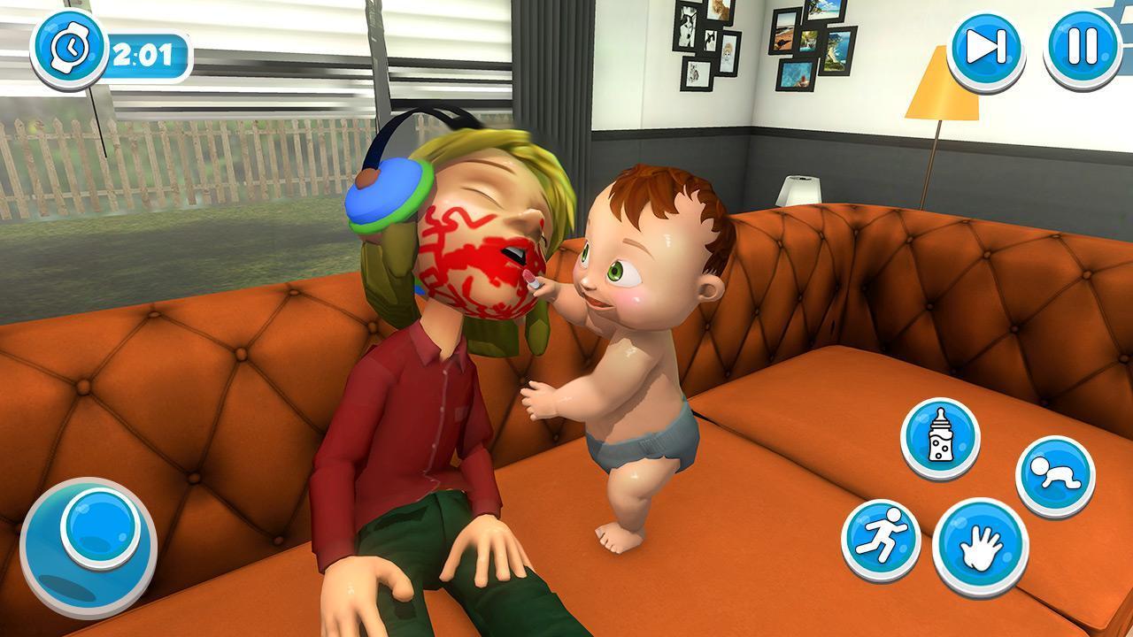 Virtuel Bébé Mère Simulateur Famille Jeux Pour Android destiné Jeux De Bébé Virtuel