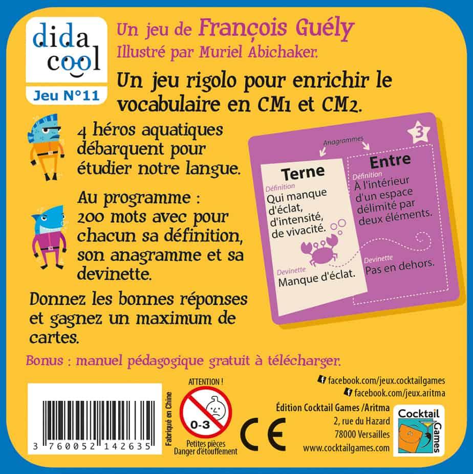 Vocadingo Cm1 Cm2 - Jeu De Vocabulaire Et D'orthographe Basé Sur Les  Anagrammes pour Jeux Pour Cm2