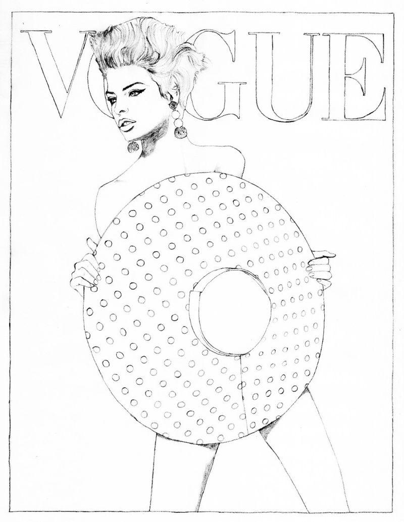 Vogue À Colorier (Vogue Paris) à Top Model À Colorier