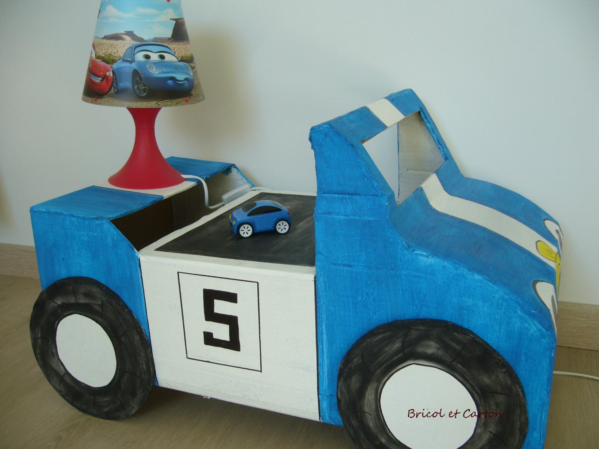 Voiture De Course Pour Enfant En Carton - Bricol Et Carton intérieur Course De Voiture Pour Enfant
