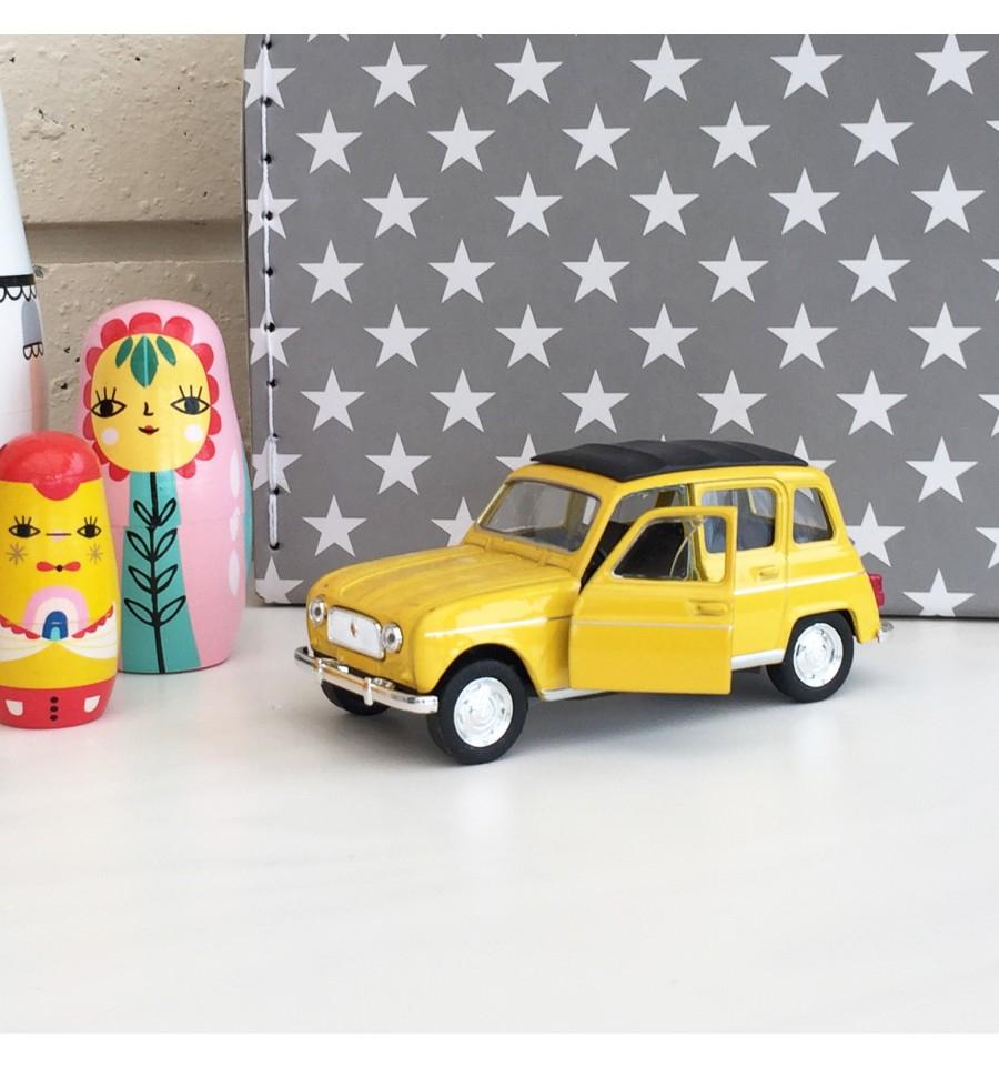 Voiture Renault 4L Jaune intérieur Jeux De La Voiture Jaune