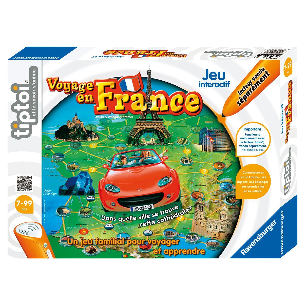 Voyage En France Tiptoi - Jeux Éducatifs - La Grande Récré avec Jeu Sur Les Régions De France