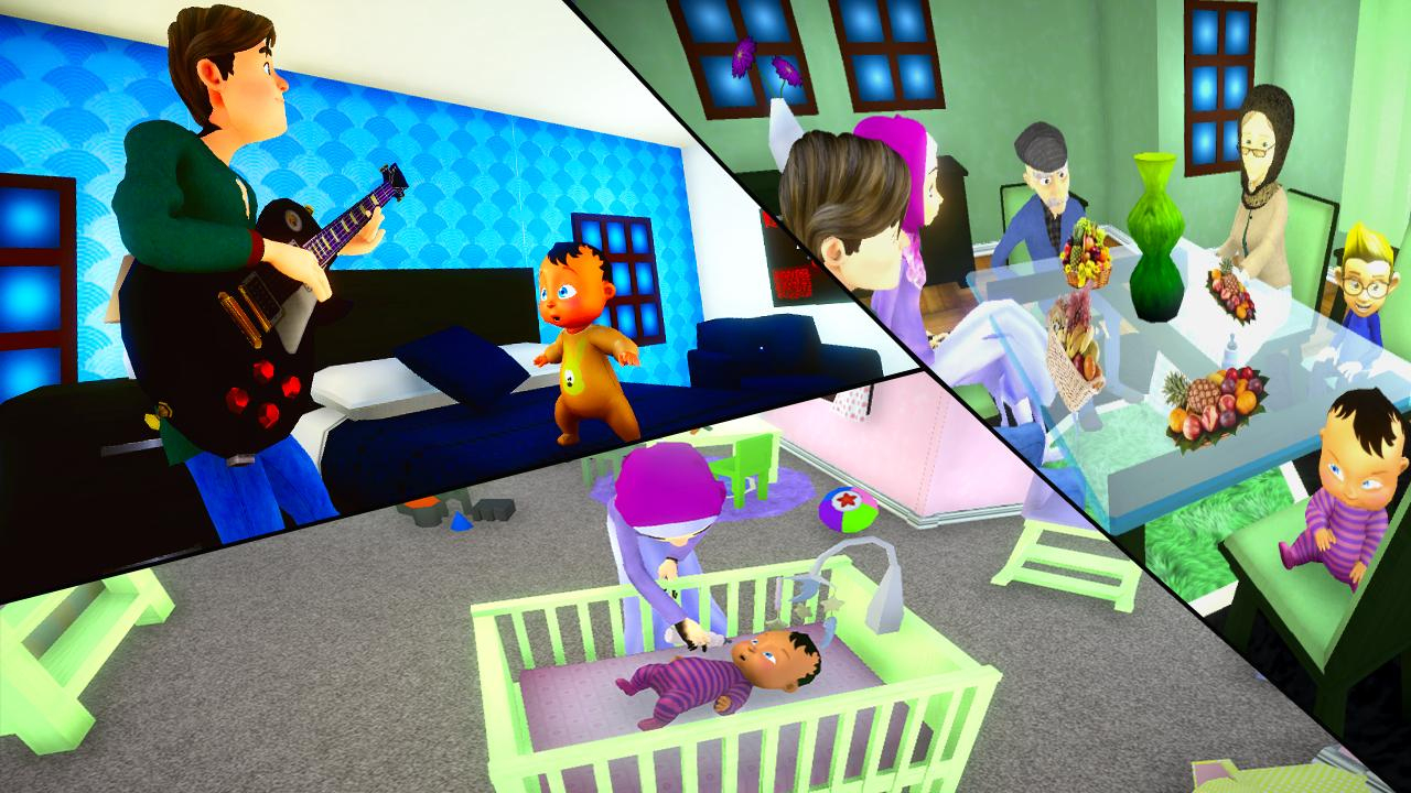 Vraie Mère Bébé Jeux 3D: Sim De Famille Virtuelle Pour intérieur Jeux De Bébé Virtuel