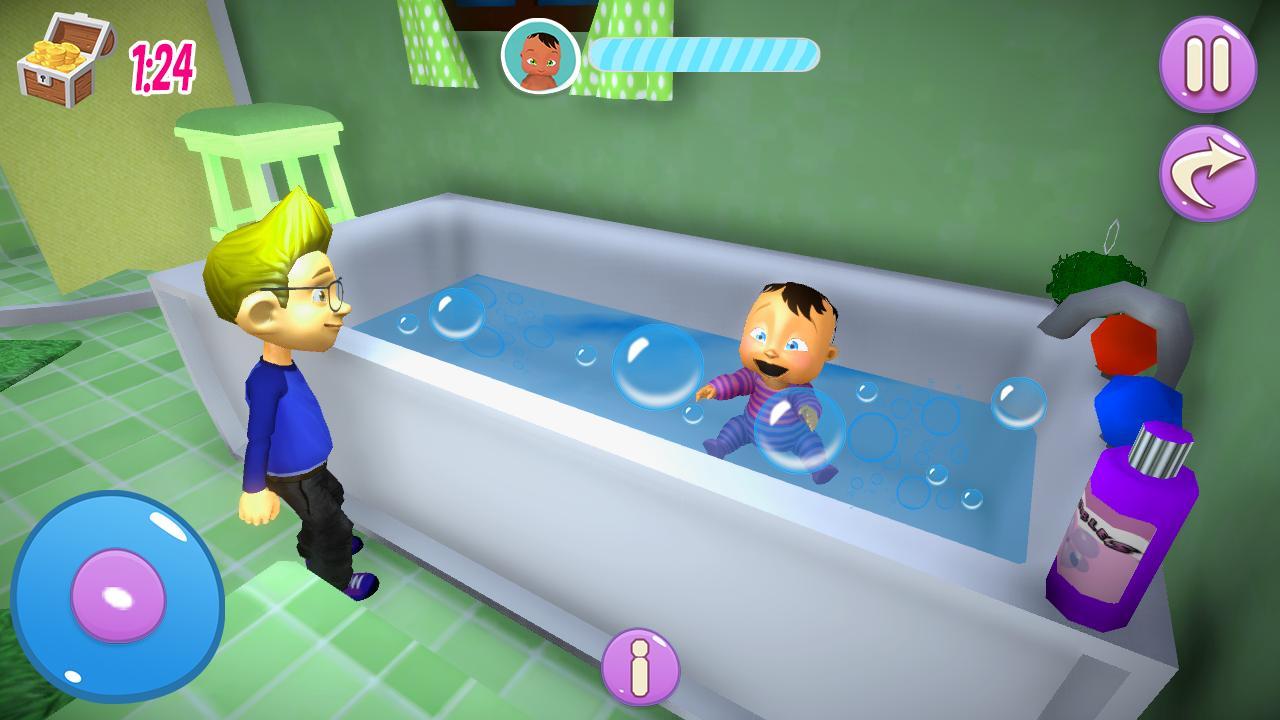Vraie Mère Bébé Jeux 3D: Sim De Famille Virtuelle Pour pour Jeux De Bébé Virtuel