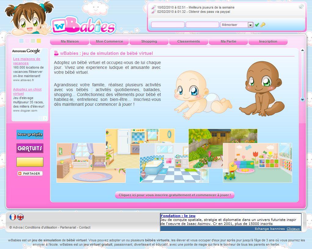 Wbabies dedans Jeux De Bébé Virtuel