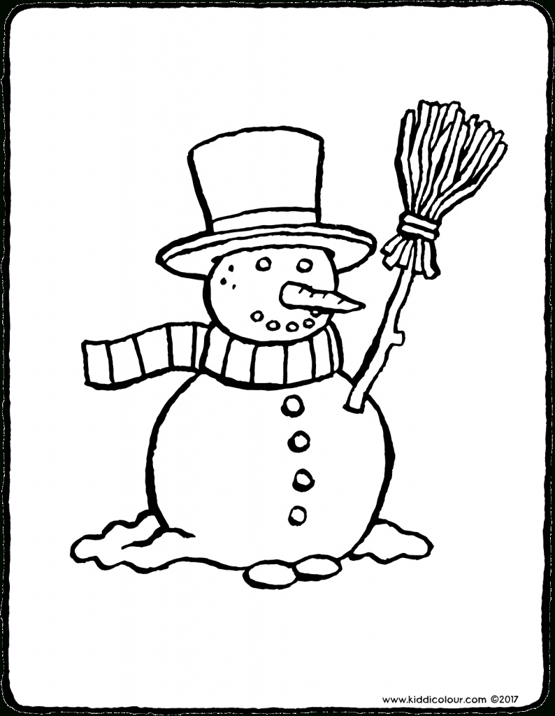 Winter Colouring Pages - Kiddicoloriage destiné Coloriage Balai
