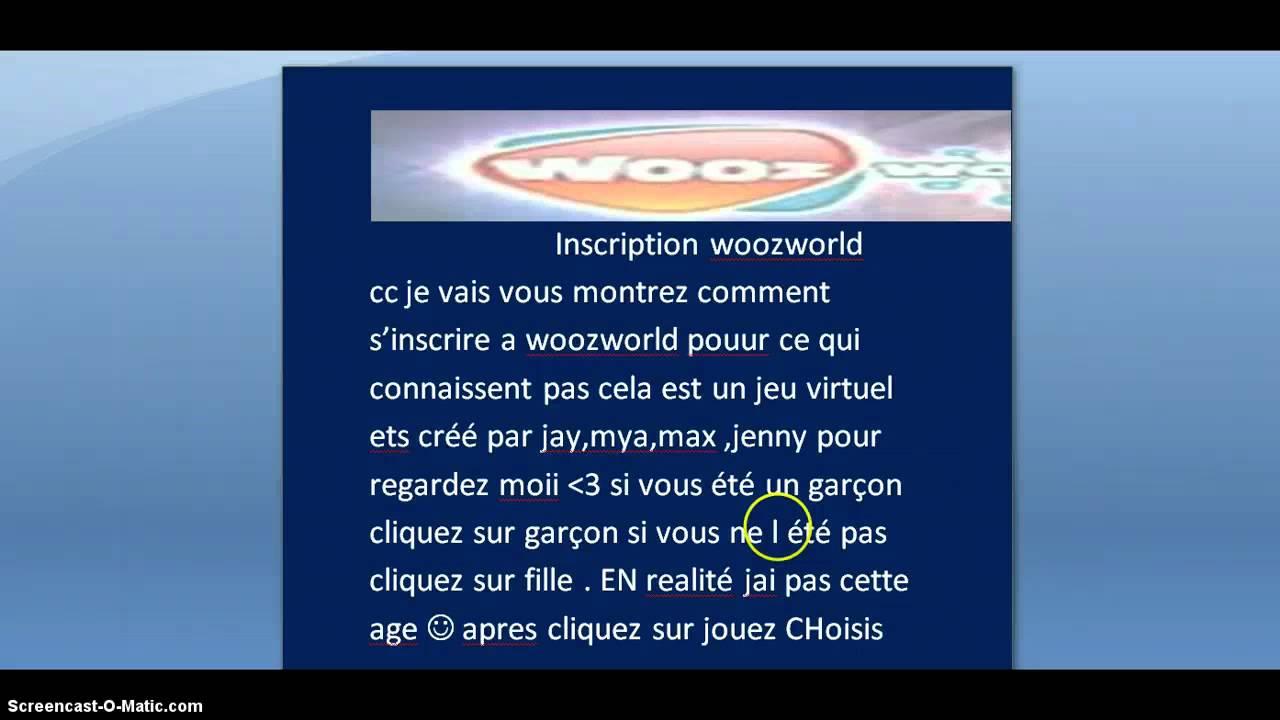 Woozworld Inscription intérieur Inscription Jeux De Fille