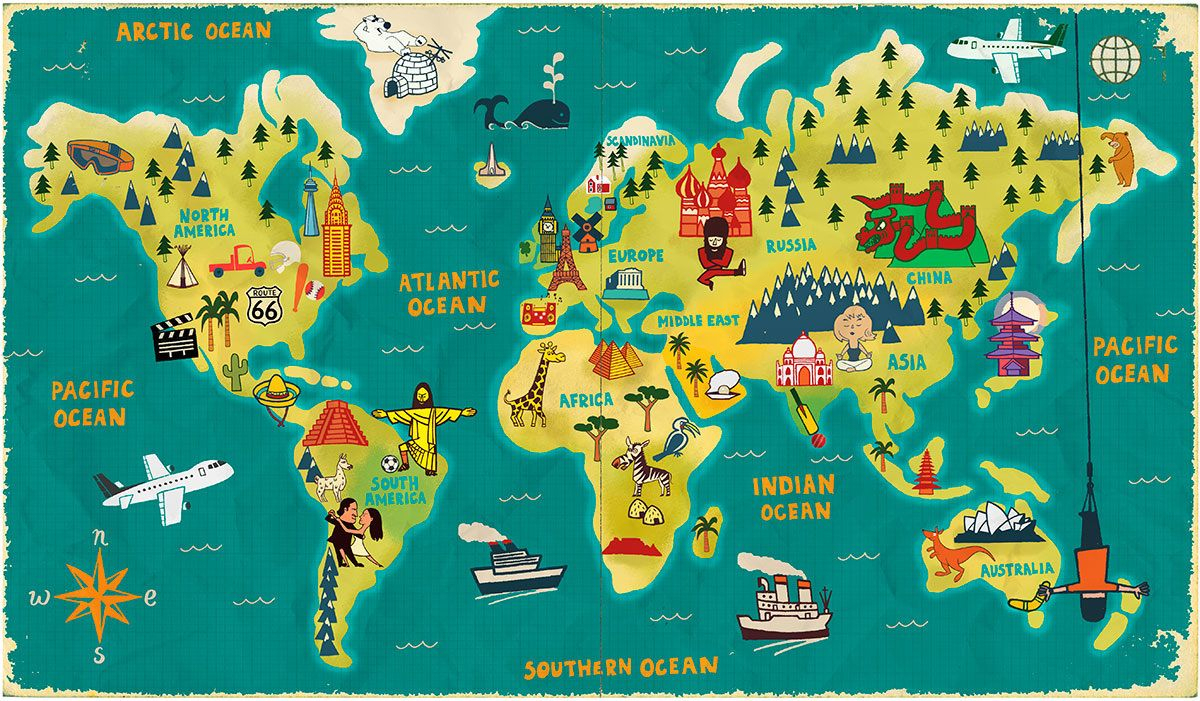 World Map Wallpaper | Art Carte, Carte Du Monde A Imprimer encequiconcerne Planisphère Enfant
