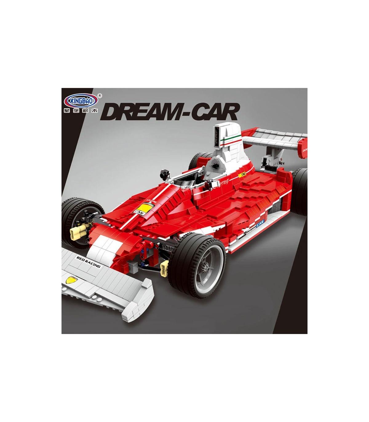 Xingbao 03023 Rouge De Formule Un, Voiture De Course Briques serapportantà Jeux De Voiture Rouge