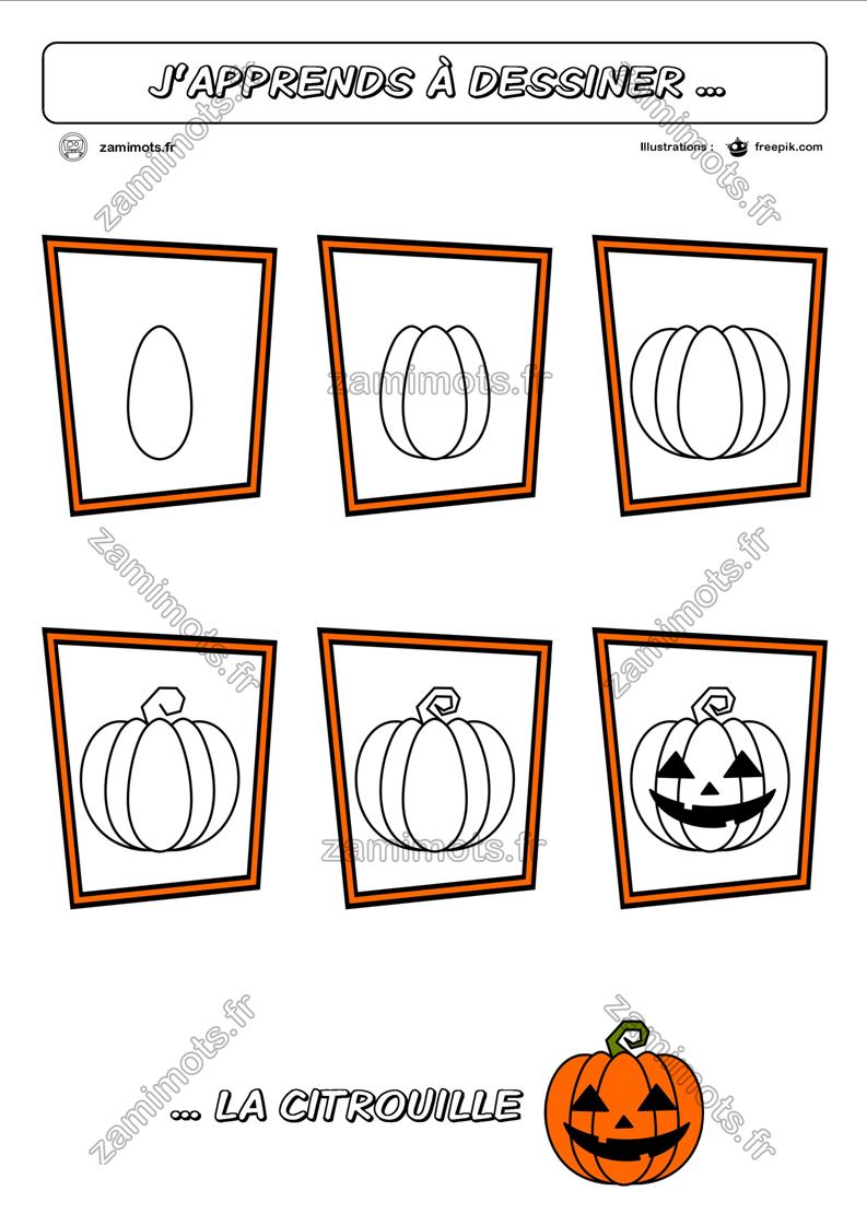 Zamimots - Tout Pour Apprendre Et S'amuser. encequiconcerne Apprendre À Dessiner Halloween